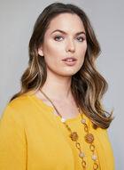 Alison Sheri - Cardigan ouvert à poches, Jaune, hi-res