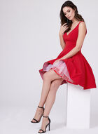 Xscape - Fit & Flare Dress, Red, hi-res