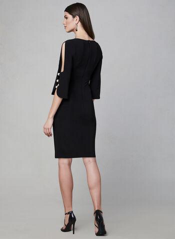 Joseph Ribkoff - Pearl Detail Sheath Dress, Black, hi-res