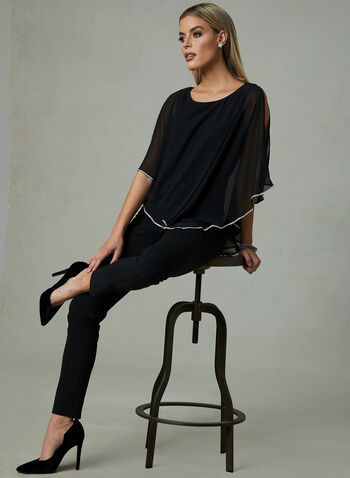 Frank Lyman - Asymmetrical Blouse, Black, hi-res