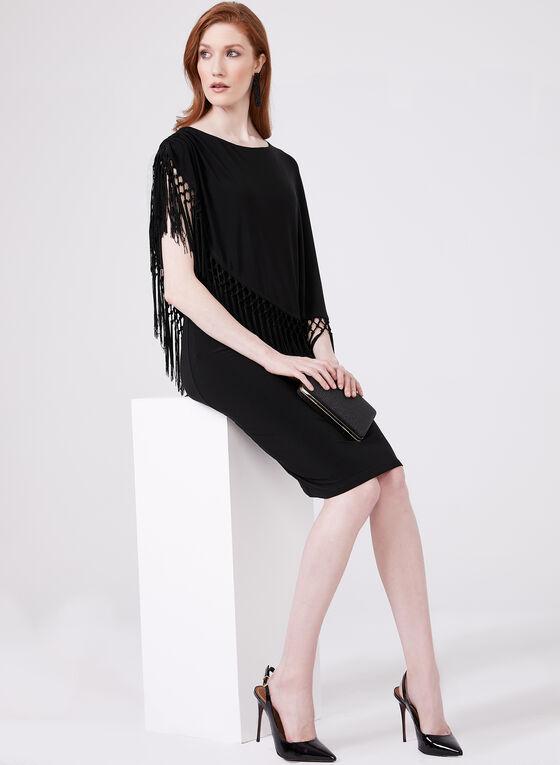 Cartise - Asymmetric Poncho Dress, Black