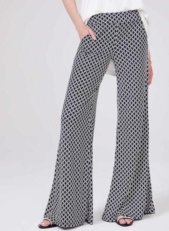 Joseph Ribkoff - Geometric Puff Print Pants, Blue, hi-res