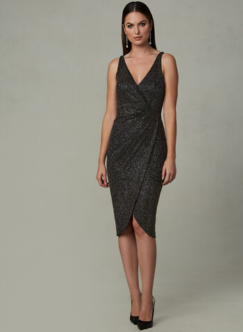 Maggy London - Glitter Wrap Dress, Multi, hi-res