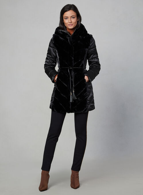 Karl Lagerfeld Paris - Faux Fur Coat, Black