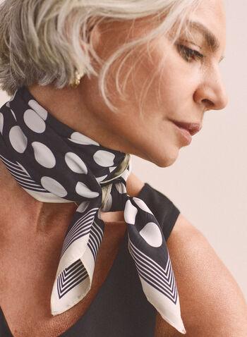 Foulard léger à pois , Noir,  printemps été 2021, foulard, pois, rayures, tissu léger, doux