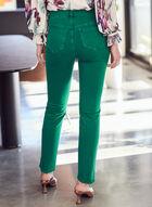 Slim Leg Coloured Jeans, Green