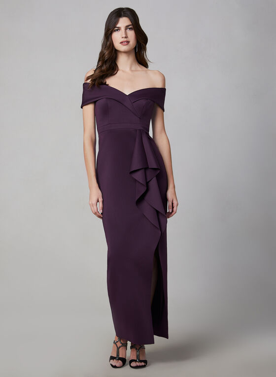 BA Nites - Off-the-Shoulder Dress, Purple