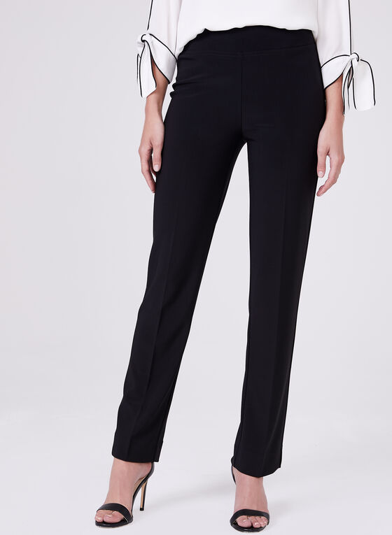 Joseph Ribkoff – Silky Knit Pull On Pants, Black, hi-res