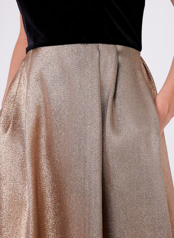 Ellen Tracy - Metallic Taffeta Gown , Gold, hi-res