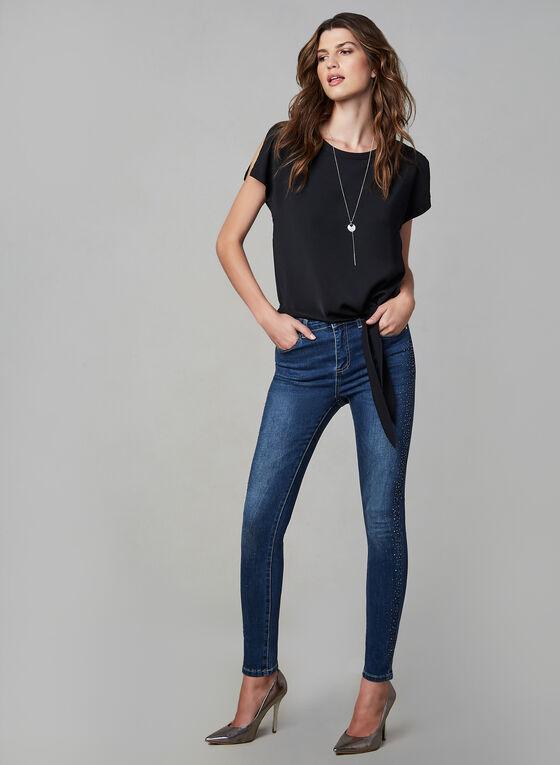 Frank Lyman - Jeans étroit à cristaux, Bleu