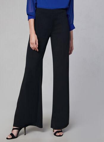 Joseph Ribkoff - Wide Leg Pants, Black, hi-res,  wide leg, fall winter 2019, crepe, pull-on