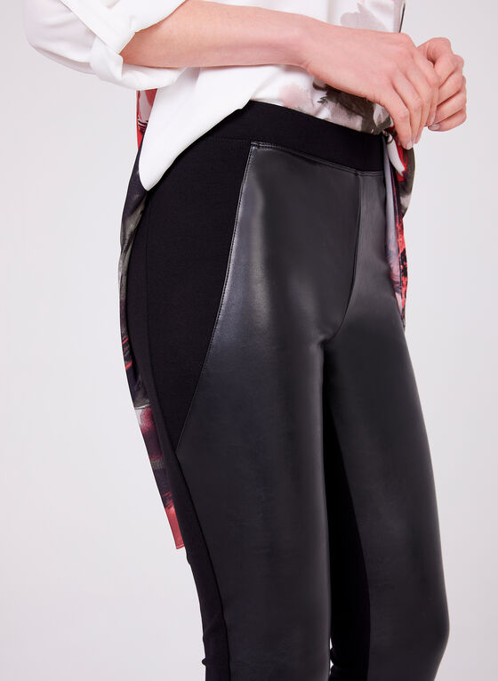 Ponte de Roma Faux Leather Pants, Black, hi-res