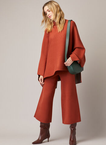 Turtleneck Drape Poncho, Brown,  fall winter 2020, Gabby Isabella, poncho, turtleneck, made in canada