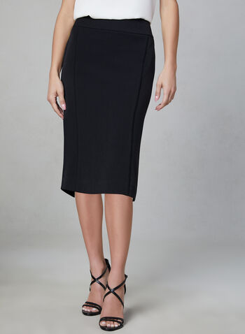 Bi-Stretch Pencil Skirt, Black, hi-res
