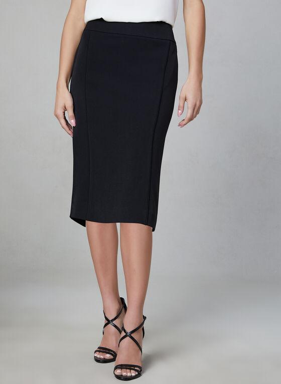 Bi-Stretch Pencil Skirt, Black, hi-res