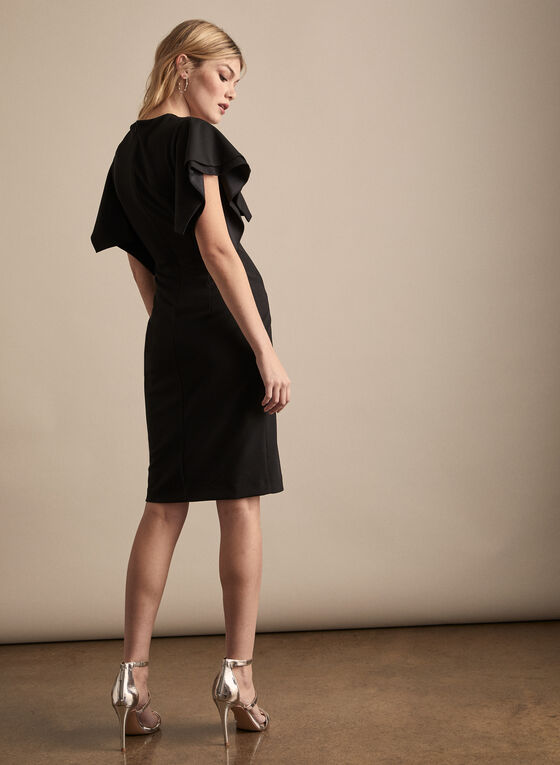 Joseph Ribkoff - Ruffle Sleeve Cocktail Dress, Black
