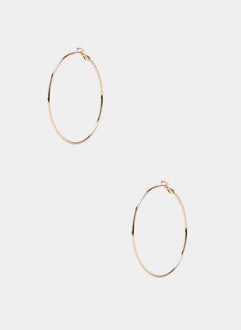 Fine Golden Hoop Earrings, Gold,  hoop, earrings, golden, metallic, fine, spring summer 2020