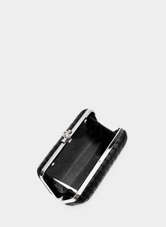 Pochette rectangulaire à losanges, Noir, hi-res