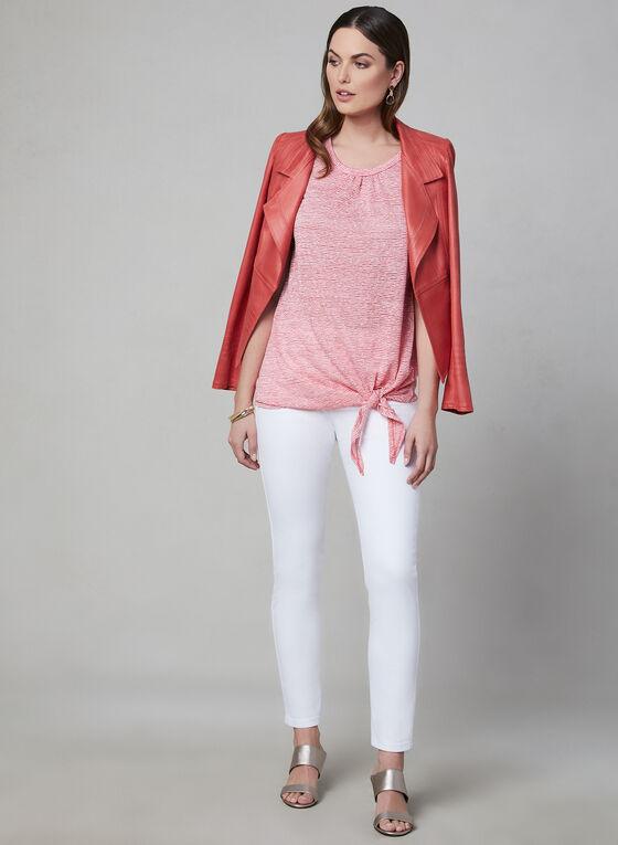 Pure Essence - Stripe Print Top, Red, hi-res
