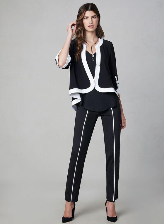 Joseph Ribkoff - Veste courte à bordures contrastantes, Noir, hi-res