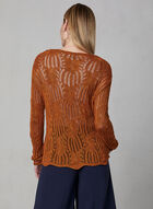Pull tricoté en crochet, Orange, hi-res