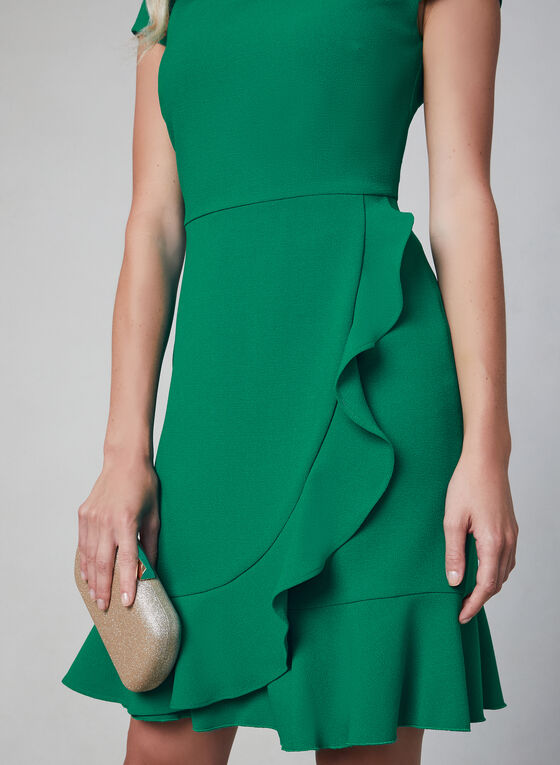 Karl Lagerfeld Paris - Ruffle Dress, Green, hi-res