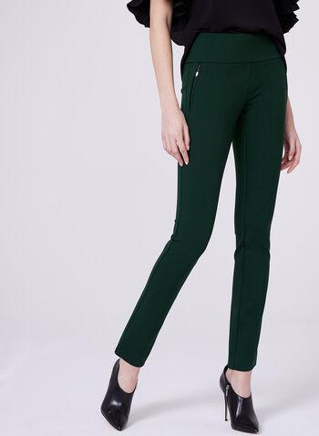 Madison Pull-On Slim Leg Pants, Green, hi-res
