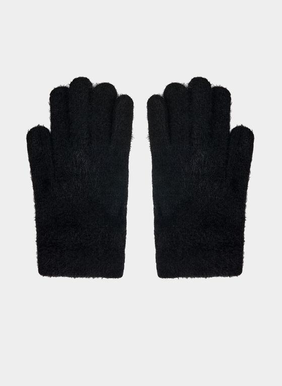 Karl Lagerfeld Paris - Knit Gloves , Black