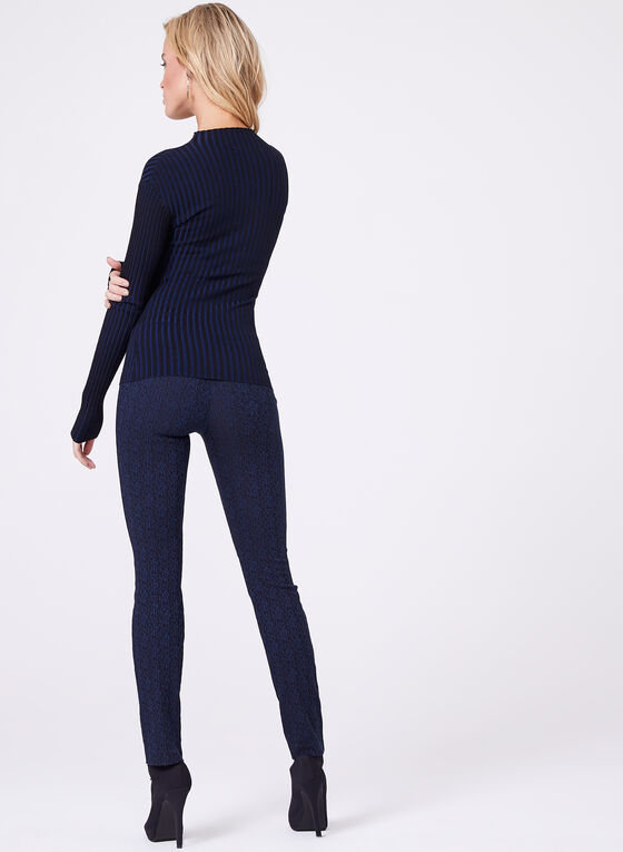 Double Knit Keyhole Neck Sweater, Blue, hi-res