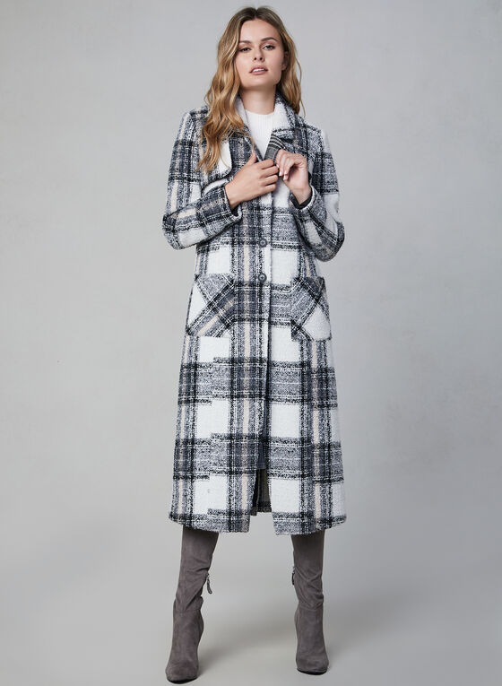 NVLT - Plaid Coat, White