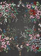 Foulard à imprimé bouquets de fleurs, Noir, hi-res