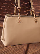 Chain Handle Hand Bag, Off White