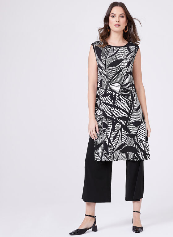 Clara Sunwoo - Sleeveless Leaf Print Tunic, White, hi-res