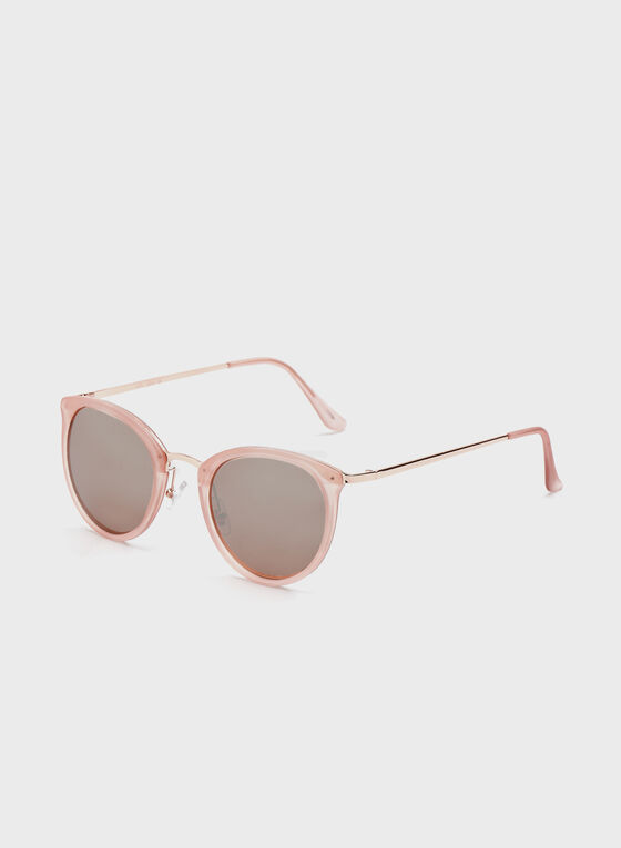 Metal Bridge Sunglasses , Pink, hi-res