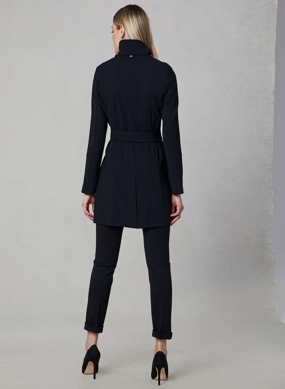 Portrait - Belted Trench Coat, Black