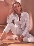 Charlie B - Embroidered Denim Jacket, White