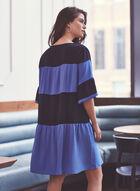 Joseph Ribkoff - Robe étagée à manches courtes, Bleu