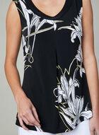 Frank Lyman - Floral Print Top, Black, hi-res