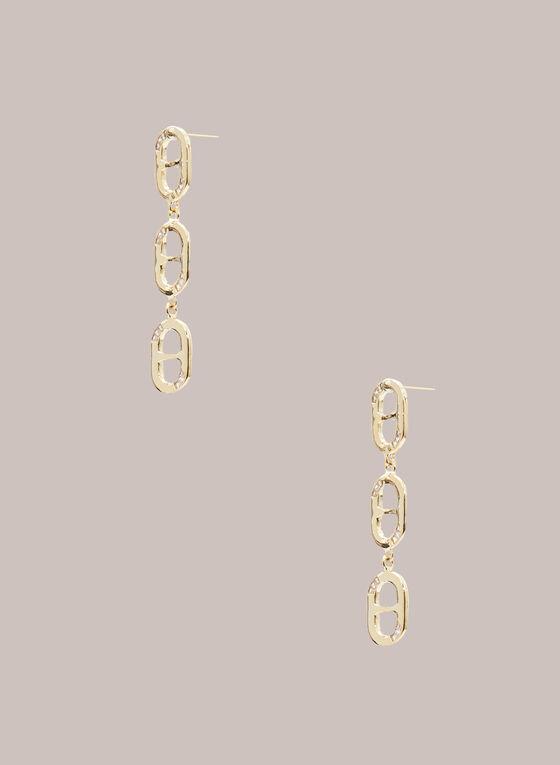 Boucles d'oreilles dorées à ovales , Or