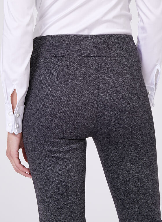 Pull On Straight Leg Pants , Grey, hi-res