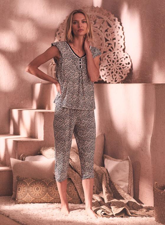 Ensemble pyjama à motif léopard , Noir
