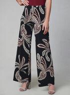 Pantalon large à motif cachemire, Noir, hi-res