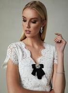 Cenia New York - Lace Bodice Jumpsuit, Black, hi-res