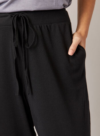 Elastic Hem Pants, Black,  fall winter 2020, pants, made in canada, drawstring, adjustable, elastic