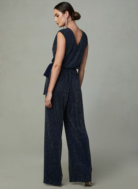 SD Collection - Glitter Jumpsuit, Black, hi-res