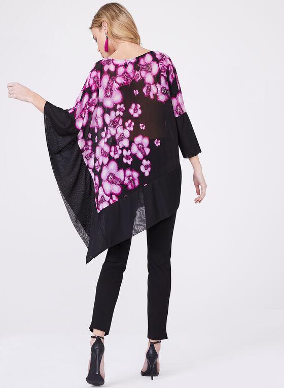 Asymmetric Floral Poncho Blouse, Multi, hi-res