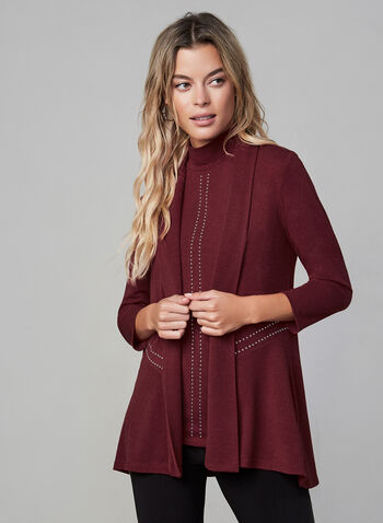 Frank Lyman - Open Front Cardigan, Red,