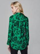 Floral Print Button-Down Blouse, Green