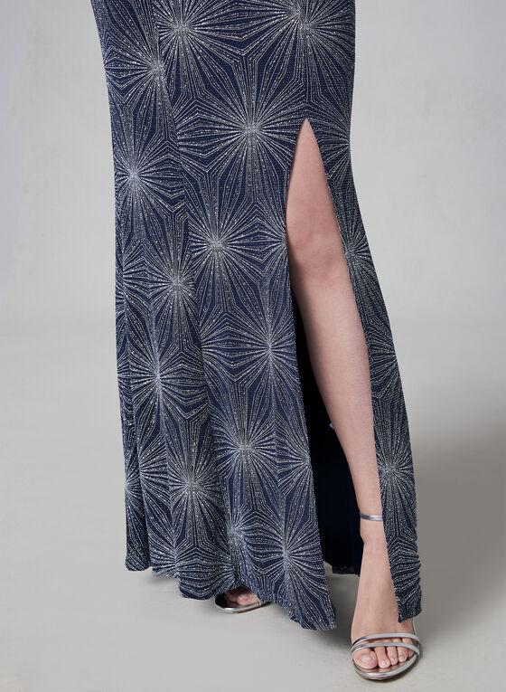 Cachet - Robe pailletée à bretelles, Bleu, hi-res