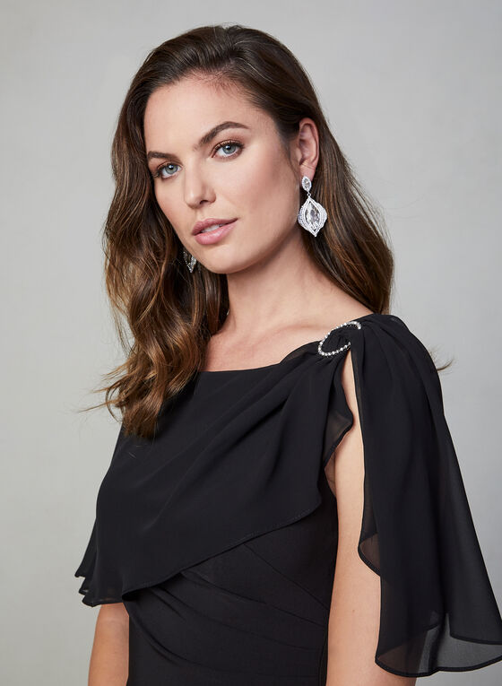 Adrianna Papell - Crepe Dress, Black